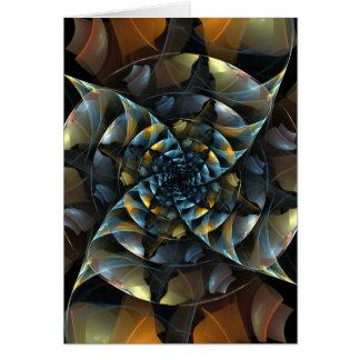 Tarjeta de nota del arte abstracto del molinillo d