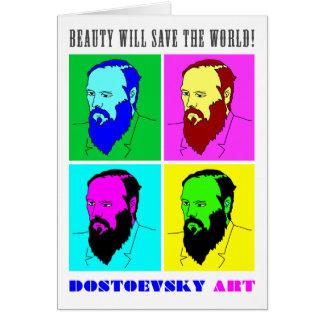Tarjeta de nota del arte de Dostoevsky