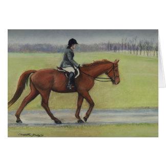 Tarjeta de nota del arte del caballo del paseo de