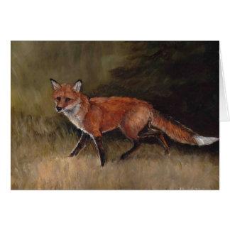 Tarjeta de nota del arte del Fox rojo