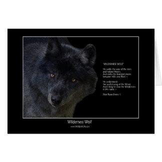 Tarjeta de nota del arte y del poema de la fauna d