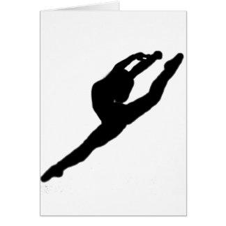 Tarjeta de nota del bailarín de la bailarina