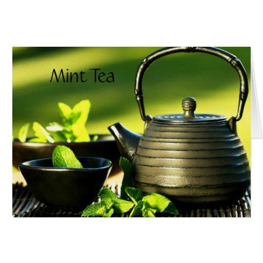 Tarjeta de nota del bebedor del té