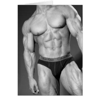 Tarjeta de nota del Bodybuilder #8
