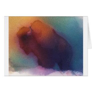 """Tarjeta de nota del """"búfalo americano"""" -"""