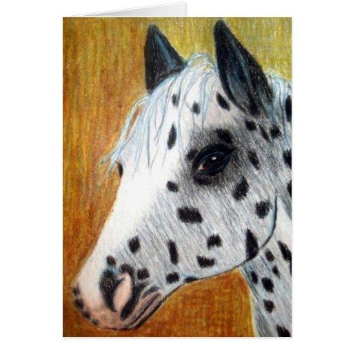 Tarjeta de nota del caballo del Appaloosa del pase