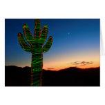 Tarjeta de nota del cactus de navidad