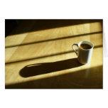 Tarjeta de nota del café de la buena mañana