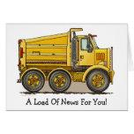 Tarjeta de nota del camión volquete de la carreter