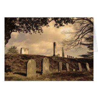 Tarjeta de nota del cementerio de la ladera