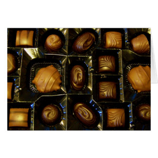 Tarjeta de nota del chocolate o tarjeta de felicit