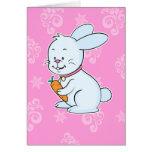 Tarjeta de nota del conejo