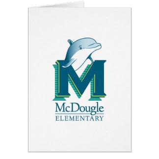 Tarjeta de nota del delfín de McDougle