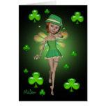 Tarjeta de nota del día de St Patrick - duendecill