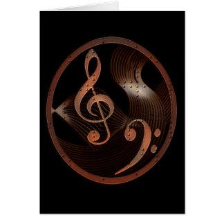 Tarjeta de nota del diseño de la música de Steampu