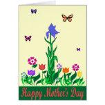 Tarjeta de nota del diseño del día de madres