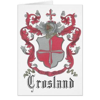 Tarjeta de nota del escudo de armas de Crosland