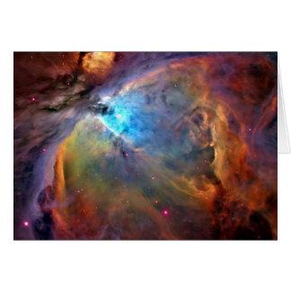 Tarjeta de nota del espacio de la nebulosa de