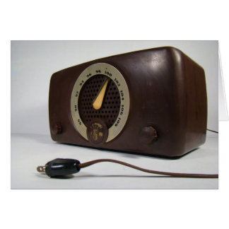 Tarjeta de nota del espacio en blanco de la radio