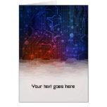 tarjeta de nota del estilo de la tecnología