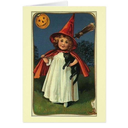 Tarjeta de nota del feliz Halloween