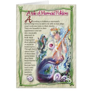 Tarjeta de nota del folclore de la sirena