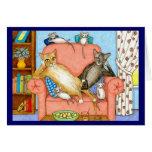 tarjeta de nota del gato 381