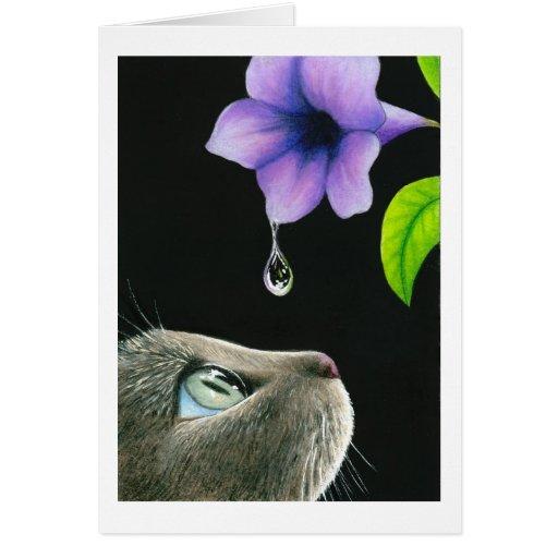 tarjeta de nota del gato 409