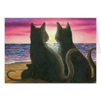 tarjeta de nota del gato 434