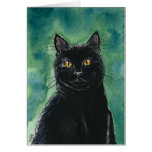 Tarjeta de nota del gato negro