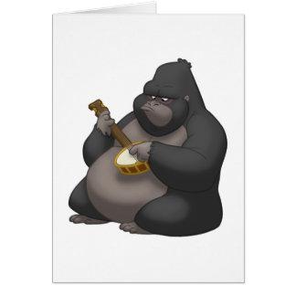 Tarjeta de nota del gorila del Banjo-Strummin