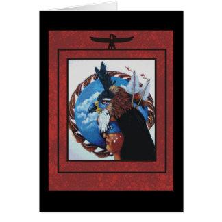 tarjeta de nota del guerrero