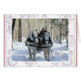 Tarjeta de nota del invierno de Vermont