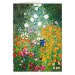 Tarjeta de nota del jardín de flores de Gustavo Kl