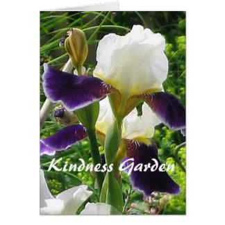 Tarjeta de nota del jardín de la amabilidad