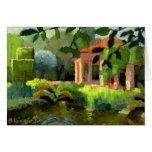 Tarjeta de nota del jardín de la cacerola