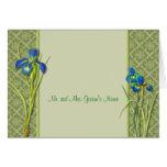Tarjeta de nota del jardín del iris