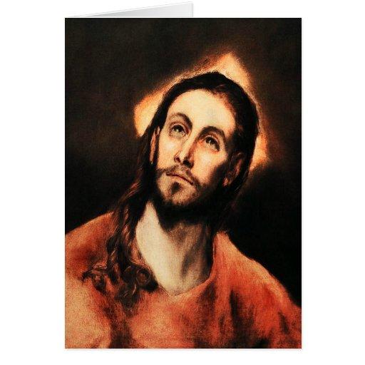 Tarjeta de nota del Jesucristo de El Greco