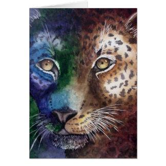 Tarjeta de nota del leopardo