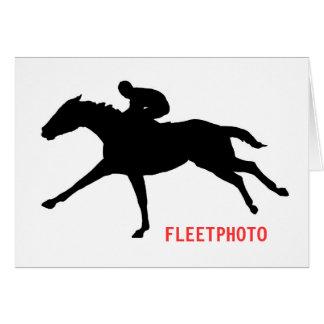 Tarjeta de nota del logotipo de Fleetphoto