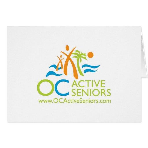 Tarjeta de nota del logotipo de OCActiveSeniors