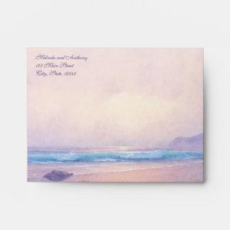 Tarjeta de nota del mar A2 del verano