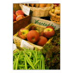 Tarjeta de nota del mercado de los granjeros