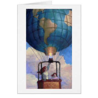 Tarjeta de nota del mundo del globo