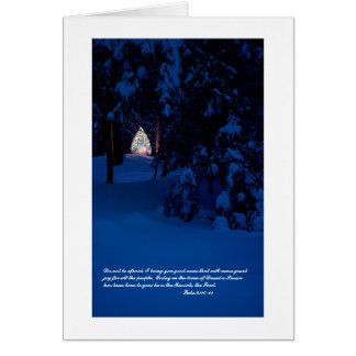 Tarjeta de nota del navidad