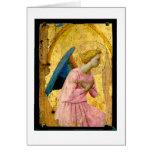 Tarjeta de nota del navidad del ángel del Fra Ange
