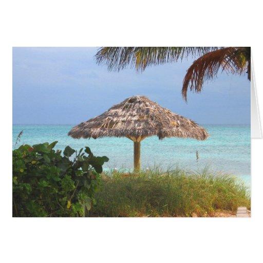 Tarjeta de nota del paraíso de la playa de Bahama