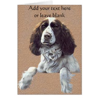 Tarjeta de nota del perro del perro de aguas, grac