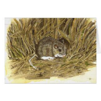 Tarjeta de nota del ratón de campo