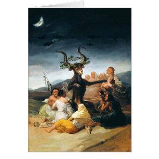 Tarjeta de nota del Sabat de las brujas de Goya